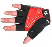 Перчатки 8-7130564 Lady Comfort Gel красн-черно-серые размер M гель/лайкра/синт.кожа с петельк. AUTHOR