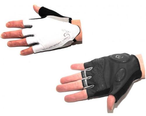 Перчатки 8-7130568 Lady Sport Gel женский черно-белые размер S гель/лайкра/синт.кожа с петельками AUTHOR