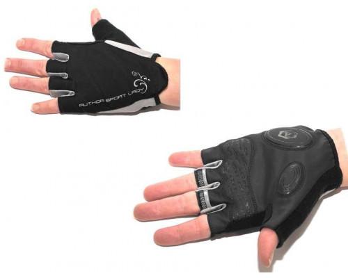 Перчатки 8-7130571 Lady Sport Gel женский черные размер S гель/лайкра/синт.кожа с петельками AUTHOR