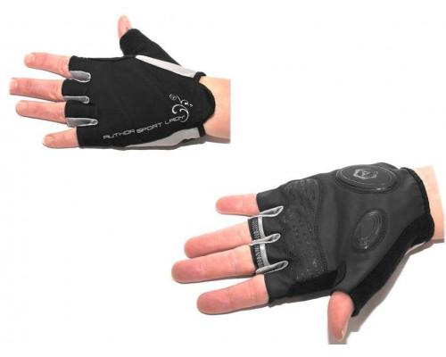 Перчатки 8-7130572 Lady Sport Gel женский черные размер M гель/лайкра/синт.кожа с петельками AUTHOR
