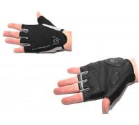 Перчатки 8-7130573 Lady Sport Gel женский черные размер L гель/лайкра/синт.кожа с петельками AUTHOR