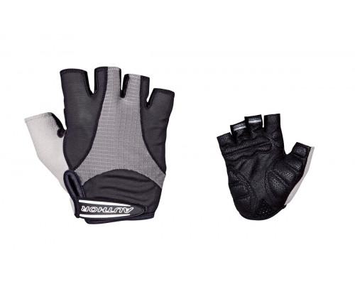 Перчатки 8-7130582 Men Elite Gel черные размер размер M гель/лайкра/синт.кожа с петельками AUTHOR