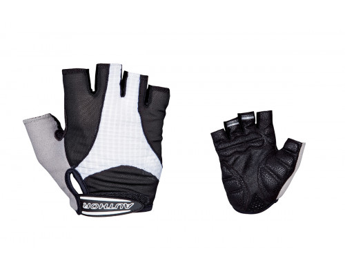 Перчатки 8-7130588 Men Elite Gel черно-белые размер размер S гель/лайкра/синт.кожа с петельками AUTHOR