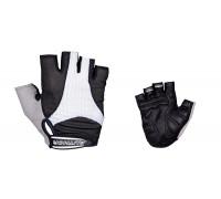 Перчатки 8-7130589 Men Elite Gel черно-белые размер размер M гель/лайкра/синт.кожа с петельками AUTHOR