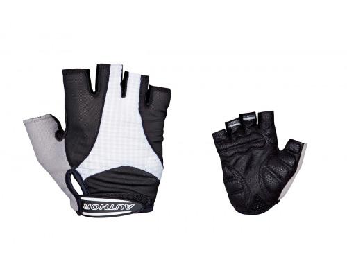 Перчатки 8-7130590 Men Elite Gel черно-белые размер размер L гель/лайкра/синт.кожа с петельками AUTHOR