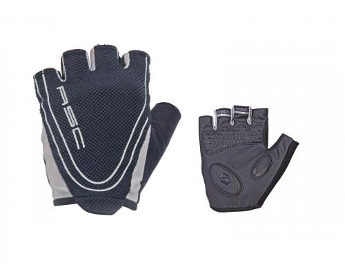 Перчатки 8-7130651 Men Race Pro черные размер размер M гель/лайкра/синтетическая кожа с петельками AUTHOR