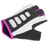 Перчатки 8-7130655 Lady Sport Gel X6 женский черно-розовые размер S гель/лайкра/синтетическая кожа с петельками AUTHOR