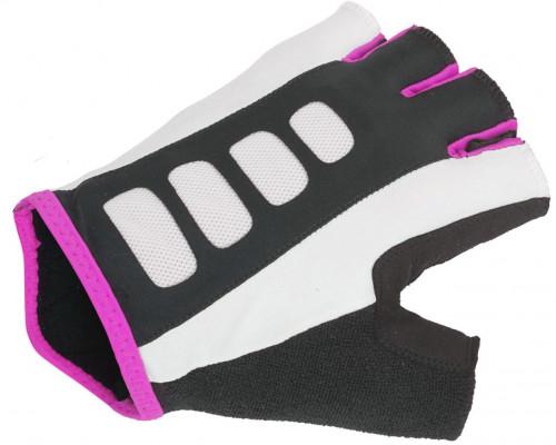 Перчатки 8-7130656 Lady Sport Gel X6 женский черно-розовые размер M гель/лайкра/синтетическая кожа с петельками AUTHOR
