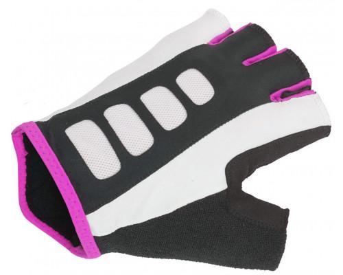 Перчатки 8-7130657 Lady Sport Gel X6 женский черно-розовые размер L гель/лайкра/синтетическая кожа с петельками AUTHOR