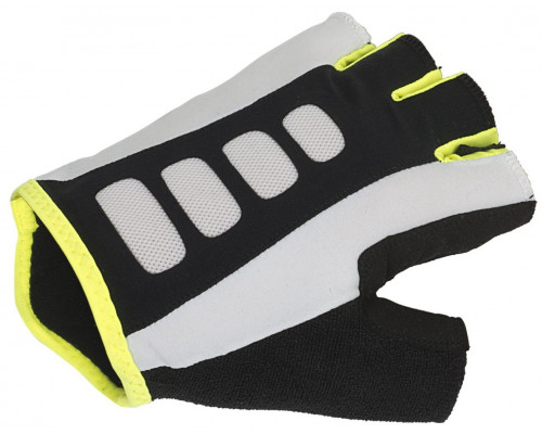 Перчатки 8-7130721 Men ARP 14A черно-бело-желтые размер размер M гель/лайкра/синтетическая кожа с петельками AUTHOR