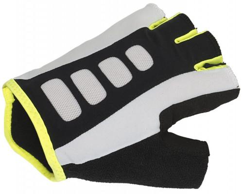 Перчатки 8-7130722 Men ARP 14A черно-бело-желтые размер размер L гель/лайкра/синтетическая кожа с петельками AUTHOR