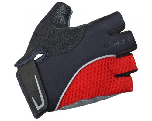Перчатки 8-7130740 Team X6 красно-черные размер XS синтетическая кожа/неопрен с петельками AUTHOR