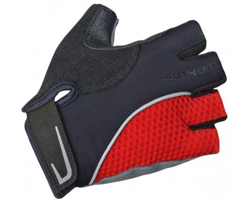 Перчатки 8-7130742 Team X6 красно-черные размер размер M синтетическая кожа/неопрен с петельками AUTHOR