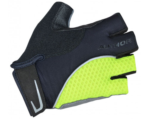 Перчатки 8-7130750 Team X6 неоново-желто-черные размер размер M синтетическая кожа/неопрен с петельками AUTHOR
