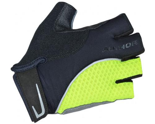 Перчатки 8-7130751 Team X6 неоново-желто-черные размер размер L синтетическая кожа/неопрен с петельками AUTHOR
