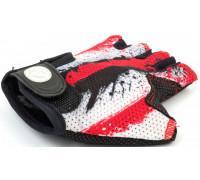 Перчатки 8-7130901 подростк. X6 красно-белые размер размер M замша/синтетическая кожа AUTHOR
