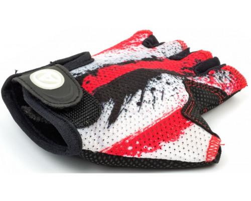 Перчатки 8-7130902 подростк. X6 красно-белые размер размер L замша/синтетическая кожа AUTHOR