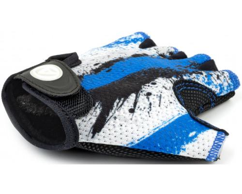 Перчатки 8-7130903 подростк. X6 сине-белые размер размер S замша/синтетическая кожа AUTHOR
