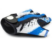 Перчатки 8-7130904 подростк. X6 сине-белые размер размер M замша/синтетическая кожа AUTHOR