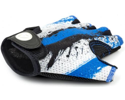 Перчатки 8-7130905 подростк. X6 сине-белые размер размер L замша/синтетическая кожа AUTHOR