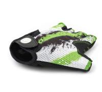 Перчатки 8-7130907 подростк. X6 зелено-белые размер размер M замша/синтетическая кожа AUTHOR