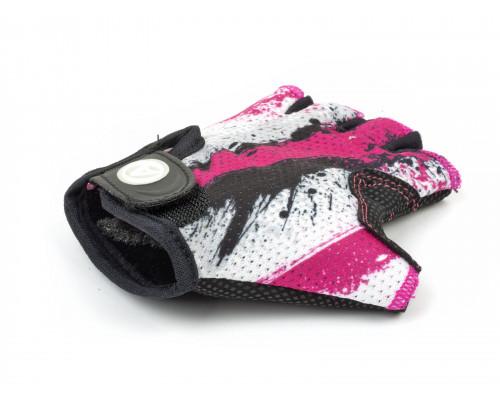 Перчатки 8-7130909 подростк. X6 розово-белые размер размер S замша/синтетическая кожа AUTHOR