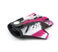 Перчатки 8-7130910 подростк. X6 розово-белые размер размер M замша/синтетическая кожа AUTHOR