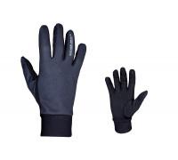 Перчатки 8-7131056 длинные пальцы Windster утепленные, облегченные, черные размер размер S лайкра/флис AUTHOR