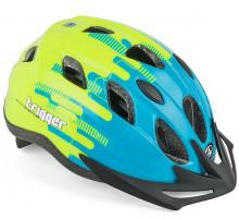 Шлем 8-9090011 с сеточкой Trigger 171Blu INMOLD подростковый 12 отверстий, сине-неон-желтый 52-56см AUTHOR
