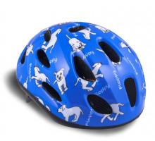 Шлем 8-9090054 с сеточкой Floppy 143 Blu детский 16 отверстий синий 48-54см AUTHOR