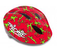 Шлем 8-9090080 с сеточкой Trickie 151 Red/Grn детский/подростковый 8 отверстий, красно-зеленый 49-56см AUTHOR