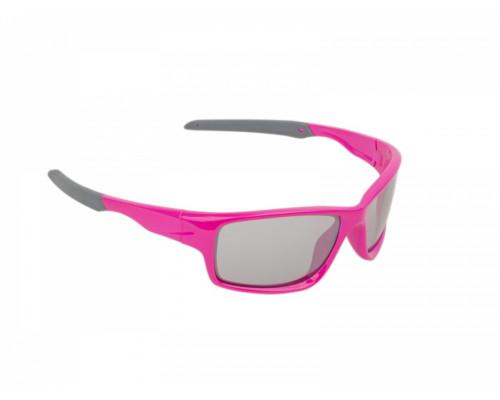 Очки 8-9201311 ДЕТСКИЕ солнцезащитные категория 2 100% защита от UV, зеркал поверхность ударопрочные поликарбонат. неоново-розовая оправа 22гр. Indee Junior AUTHOR