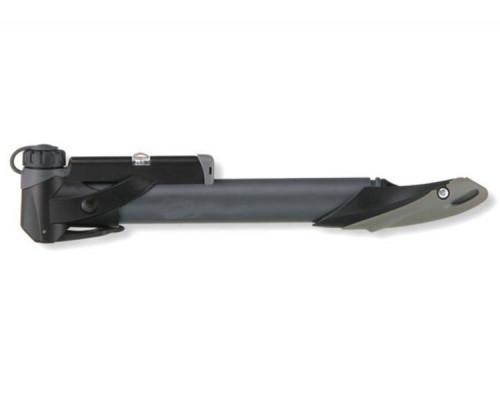 Насос 9-150999 H99 алюминиевый с манометром универсальная головка, Т-образная ручка, до 7Bar/100PSI темно-серый HORST
